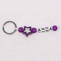 Glitzerstern violett