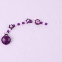 Edelweiss violett/weiss